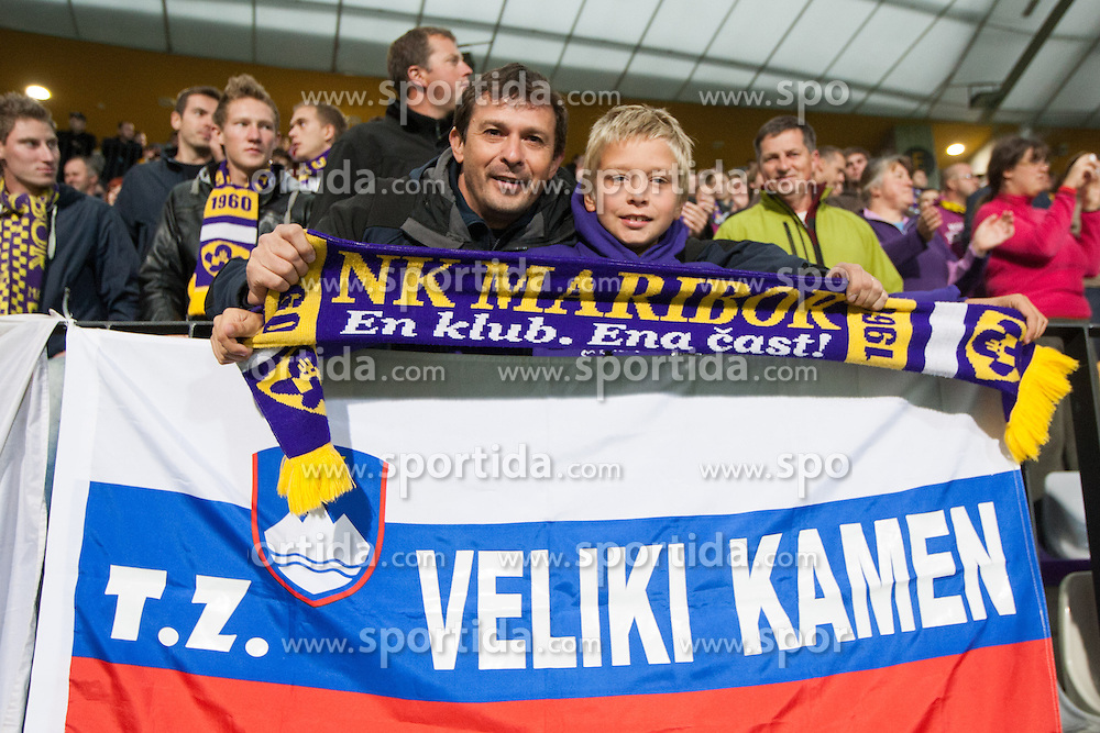 Fans of NK Maribor during football match between NK Maribor and Panathinaikos Athens F.C. (GRE) in 1st Round of Group Stage of UEFA Europa league 2013, on September 20, 2012 in Stadium Ljudski vrt, Maribor, Slovenia. (Photo By Matic Klansek Velej / Sportida)