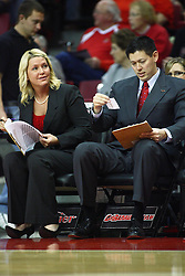 07 December 2012:  Shelia Roux and Ryan Bragdon during an NCAA women's basketball game between the Northwestern Wildcats and the Illinois Sate Redbirds at Redbird Arena in Normal IL