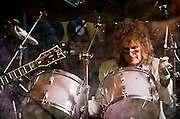 Russ T. Blades on drums with the Vince Martell band at The Bus Stop Music Cafe in Pitman, NJ,
