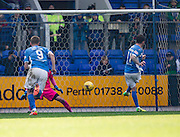 St Johnstone&rsquo;s Danny Swanson doubles his side's lead from the penalty spot  - St Johnstone v Dundee, Ladbrokes Scottish Premiership at McDiarmid Park, Perth. Photo: David Young<br /> <br />  - &copy; David Young - www.davidyoungphoto.co.uk - email: davidyoungphoto@gmail.com