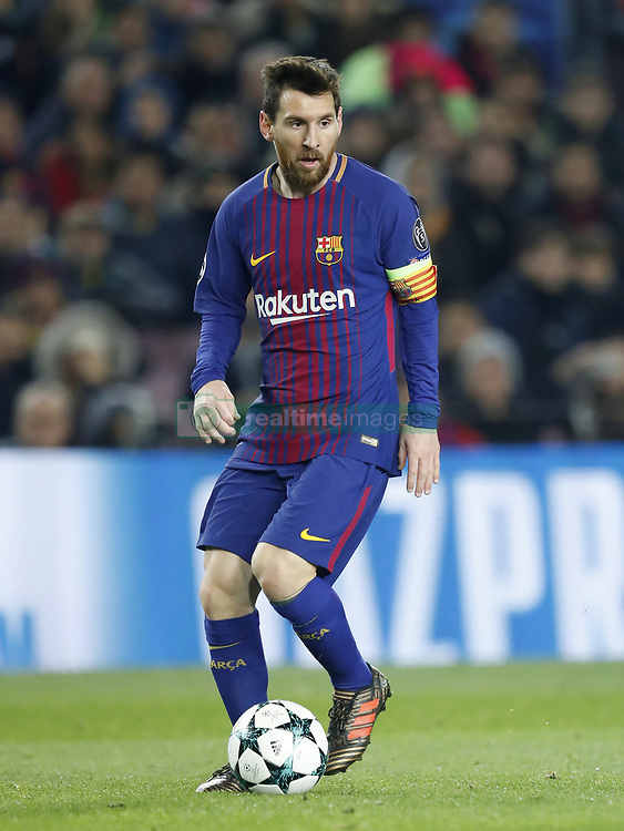 Lionel Messi of FC Barcelona during the UEFA Champions League group D match between FC Barcelona and Sporting Club de Portugal on December 05, 2017  at the Camp Nou stadium in Barcelona, Spain.