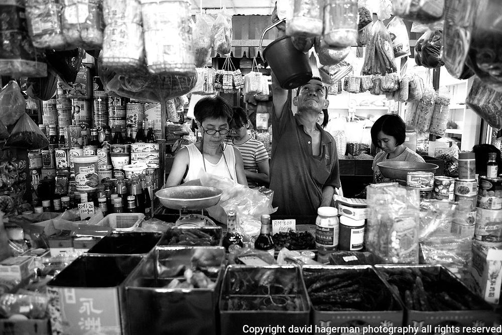 A market stall in Kuala Lumpur's Imbi Market, Malaysia