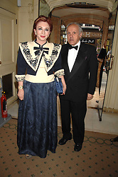 PANAGIOTIS & CHRYSANTHY LEMOS the wealthy Greek social figures at a reception to celebrate the launch of Prince Dimitri of Yugoslavia's one-of-a-kind jeweleery collection held at Partridge Fine Art, 144-146 New Bond Street, London on 11th June 2008.<br />