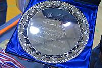 ROTTERDAM - De kampioensschaal tijdens het Landskampioenschap reserveteam zaal 2013. FOTO KOEN SUYK