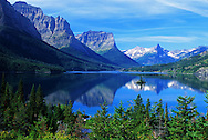 St. Mary Lake and Wild Goose Island. Glacier National Park, Montana