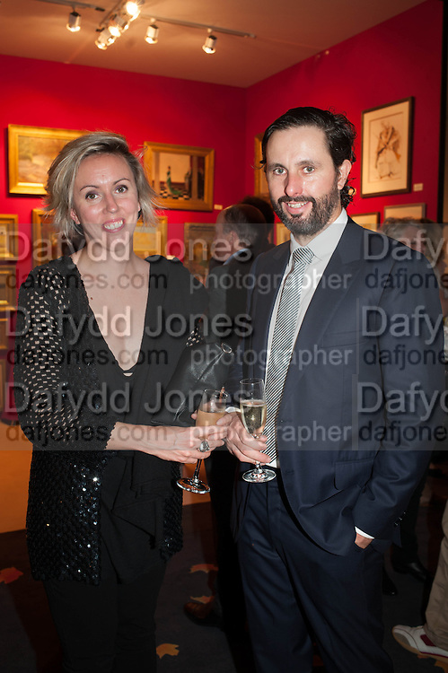Nina Fowler; Craig Wylie at the Opening of The LAPADA  Art and Antiques Fair. Berkeley Sq. London. 24 September 2013.