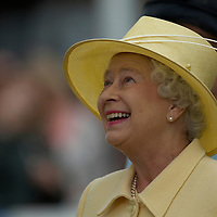 Windosr Great Park, Berkshire, HM Queen  Elizabeth II at the Windsor Horse Show, during a walkabout and priuze cerimony