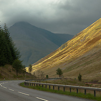 Scenic pass on the A82 to Glencoe