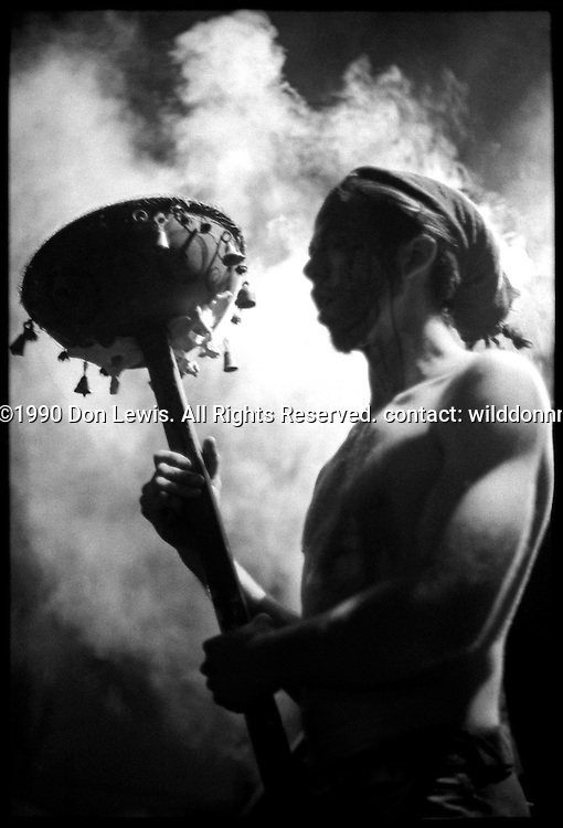 JXL of Crash Worship at X=Art, Los Angeles, Feb. 24, 1990.