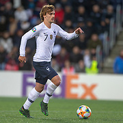 ANDORRA LA VELLA, ANDORRA. June 1.  Antoine Griezmann #7 of France in action during the Andorra V France 2020 European Championship Qualifying, Group H match at the Estadi Nacional d'Andorra on June 11th 2019 in Andorra (Photo by Tim Clayton/Corbis via Getty Images)