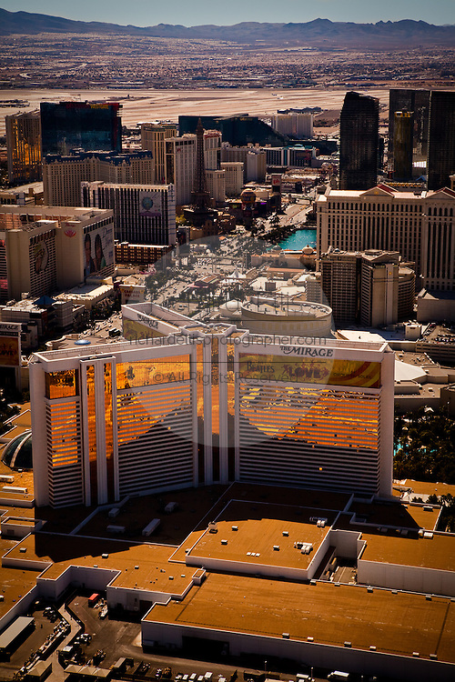 Aerial view of the Mirage Casino Las Vegas, Nevada