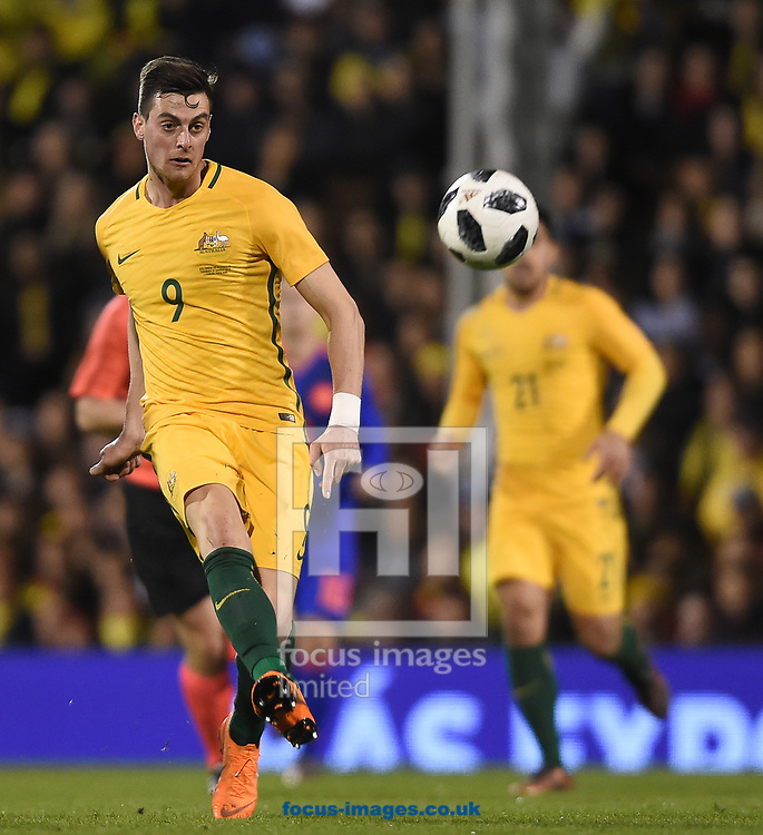 Tomi Juric of Australia during the International Friendly match at Craven Cottage, London<br /> Picture by Daniel Hambury/Focus Images Ltd 07813022858<br /> 27/03/2018