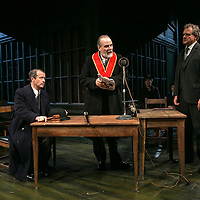 An Enemy of the People by Henrik Ibsen;<br /> Directed by Howard Davies;<br /> Hugh Bonneville as Dr Tomas Stockmann;<br /> William Gaminara as Peter Stockmann;<br /> Jonathan Cullen as Aslaksen;<br /> Chichester Festival Theatre, Chichester, UK;<br /> 29 April 2016