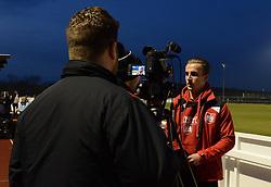 Joe Bryan of Bristol City is interviewed about Womens football before Bristol City Women play Yeovil Town Ladies - Mandatory by-line: Dougie Allward/JMP - Mobile: 07966 386802 - 23/03/2016 - FOOTBALL - Stoke Gifford Stadium - Bristol, England - Bristol City Women v Yeovil Town Ladies - FA Women's Super League 2
