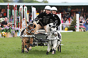 """The """"Scurry"""" event entertaining the crowds in the main arena during the International Horse Trials at Chatsworth, Bakewell, United Kingdom on 12 May 2018. Picture by George Franks."""
