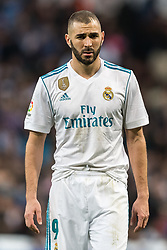 Karim Benzema of Real Madrid during the La Liga Santander match between Real Madrid CF and Sevilla FC on December 09, 2017 at the Santiago Bernabeu stadium in Madrid, Spain.