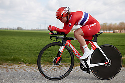 Susanne Andersen (NOR) at Healthy Ageing Tour 2019 - Stage 4A, a 14.4km individual time trial starting and finishing in Winsum, Netherlands on April 13, 2019. Photo by Sean Robinson/velofocus.com