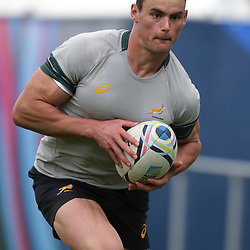 BIRMINGHAM, ENGLAND - SEPTEMBER 23: Jesse Kriel during the South African national rugby team training session at University of Birmingham on September 23, 2015 in Birmingham, England. (Photo by Steve Haag)