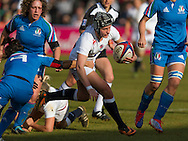 Bianca Blackburn in action, England Women v Italy Women in Women's 6 Nations Match at Twickenham Stoop, Twickenham, England, on 15th February 2015. Final score 39-7.