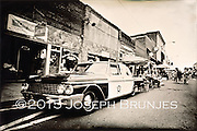 Squad Car<br /> 6x9 tintype on aluminum.