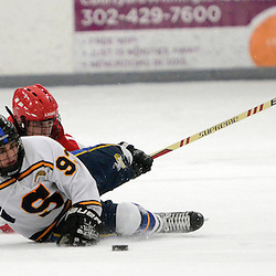 TOM KELLY IV - DAILY TIMES<br /> Springfield's Mark Rogers (93) is taken down by Penncrest's Nicholas Young (17) during the Penncrest takes on Springfield at Ice Works in Aston, Friday night December 2, 2014.