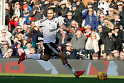 Fulham forward Aleksandar Mitrovic (32) during the EFL Sky Bet Championship match between Fulham and Aston Villa at Craven Cottage, London, England on 17 February 2018. Picture by Andy Walter.