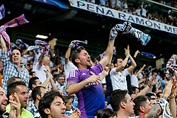 Real Madrid fans celebrate - Mandatory byline: Rogan Thomson/JMP - 04/05/2016 - FOOTBALL - Santiago Bernabeu Stadium - Madrid, Spain - Real Madrid v Manchester City - UEFA Champions League Semi Finals: Second Leg.