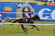 MAHLERVOUS (8) ridden by Gavin Sheehan and trained by Warren Greatrex winning The Class 2 Ayrshire Hospice Land O'Burns Starlight Walk Handicap Hurdle over 2m 5f (£20,000) during the Scottish Grand National race day at Ayr Racecourse, Ayr, Scotland on 13 April 2019.