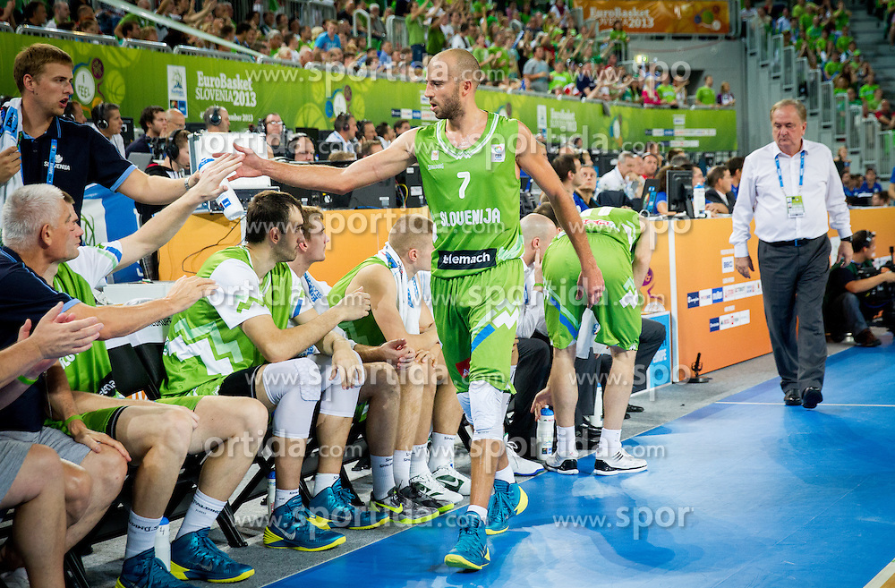 Nebojsa Joksimovic of Slovenia during basketball match between National teams of Slovenia and Finland in Round 2 at Day 13 of Eurobasket 2013 on September 16, 2013 in Arena Stozice, Ljubljana, Slovenia. (Photo by Vid Ponikvar / Sportida.com)