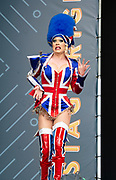 West End Live 2018 <br /> Trafalgar Square, London, Great Britain <br /> 16th June 2018 <br /> <br /> Excerpts from West End musicals perform live on stage in Trafalgar Square, London <br /> <br /> Kinky Boots