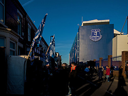 LIVERPOOL, ENGLAND - Sunday, December 4, 2016: Everton's Goodison Park Stadium bathed in Winter sunshine before the FA Premier League match against Manchester United at Goodison Park. (Pic by Gavin Trafford/Propaganda)