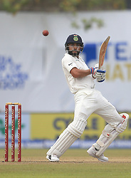 July 29, 2017 - Galle, Sri Lanka - Indian cricket captain Virat Kohli plays a shot during the 4th Day's play in the 1st Test match between Sri Lanka and India at the Galle cricket stadium, Galle, Sri Lanka on Saturday 29 July 2017. (Credit Image: © Tharaka Basnayaka/NurPhoto via ZUMA Press)