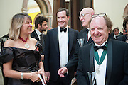 TRACEY EMIN; GEORGE OSBORNE; HUMPHREY OCEAN; RICHARD WILSON, Royal Academy Annual Dinner 2013. Piccadilly. London. 4 June 2013.