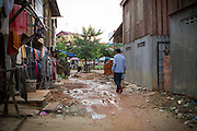 One of the typical Cambodian streets in Siem Reap