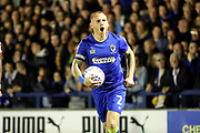 AFC Wimbledon defender Barry Fuller (2) shouting during the EFL Sky Bet League 1 match between AFC Wimbledon and Milton Keynes Dons at the Cherry Red Records Stadium, Kingston, England on 22 September 2017. Photo by Matthew Redman.