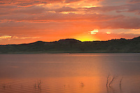 Sunrise over Missouri River (Lake Fort Peck) Hell Creek Montana