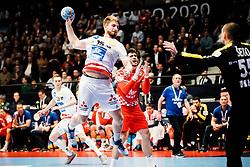 16.01.2020, Wiener Stadthalle, Wien, AUT, EHF Euro 2020, Kroatien vs Österreich, Hauptrunde, Gruppe I, im Bild v. l. Fabian Posch (AUT), Marin Sego (CRO) // f. l. Fabian Posch (AUT) Marin Sego (CRO) during the EHF 2020 European Handball Championship, main round group I match between Croatia and Austria at the Wiener Stadthalle in Wien, Austria on 2020/01/16. EXPA Pictures © 2020, PhotoCredit: EXPA/ Florian Schroetter
