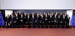 EU heads of state gather for a group photo during the European Union summit at EU headquarters in Brussels, Belgium, on Sunday, March. 1, 2009. .(Photo © Jock Fistick)