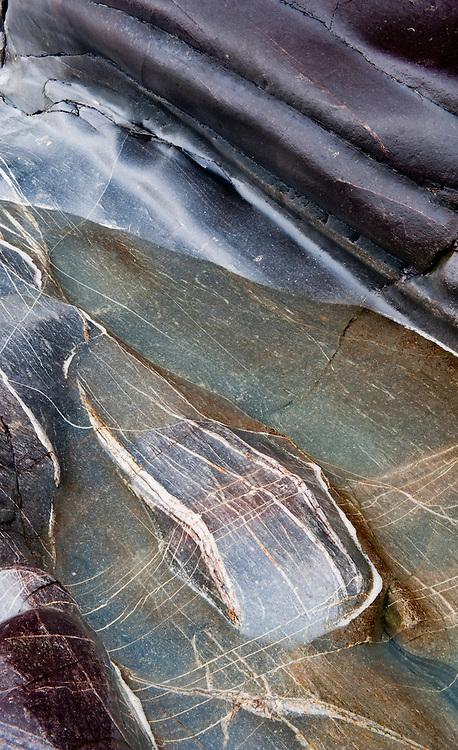 Veination in rocks, Saligo Bay, Islay, Scotland