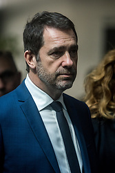 March 29, 2019 - Lyon, France - Minister of the Interior Christophe CASTANER visits the Central Technical and Scientific Police Service (SCPTS) in Ecully near Lyon, France, on 29 March 2019. (Credit Image: © Nicolas Liponne/NurPhoto via ZUMA Press)