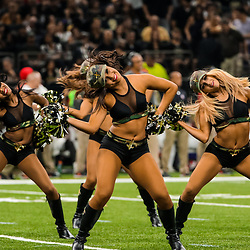 Nov 5, 2017; New Orleans, LA, USA; New Orleans Saints Saintsations perform during the first half of a game against the Tampa Bay Buccaneers at the Mercedes-Benz Superdome. Mandatory Credit: Derick E. Hingle-USA TODAY Sports