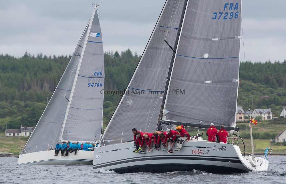 Silvers Marine Scottish Series 2017<br /> Tarbert Loch Fyne - Sailing<br /> <br /> FRA37296, Triple Elf, Christine Murray, CCC/Fairlie YC, Beneteau First 35<br /> <br /> Credit: Marc Turner / CCC