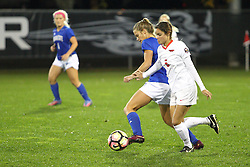 04 November 2016:  Mikayla Unger(5) during an NCAA Missouri Valley Conference (MVC) Championship series women's semi-final soccer game between the Indiana State Sycamores and the Illinois State Redbirds on Adelaide Street Field in Normal IL