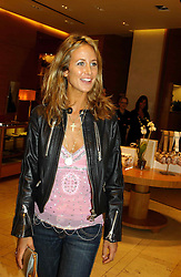 LADY VICTORIA HERVEY at a party hosted by Burberry to launch their special collection in aid of Breakthrough Breast Cancer, held at 21-23 New Bond Street, London W1 on 5th October 2004.<br />