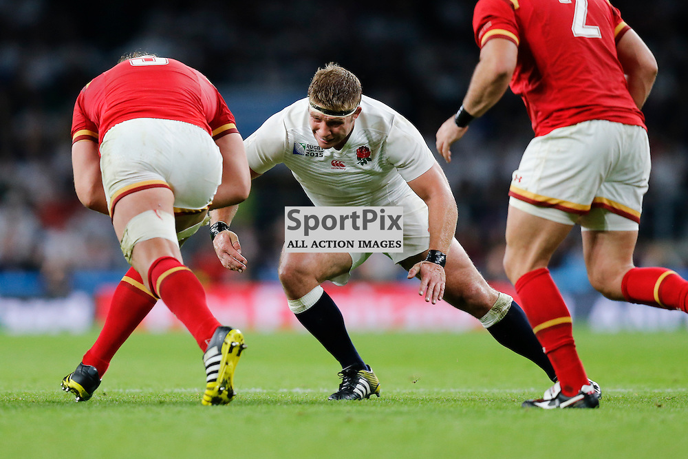 TWICKENHAM, ENGLAND - SEPTEMBER 26: Alun Wyn Jones of Wales tackled by England's hooker Tom Youngs (2) during the 2015 Rugby World Cup Pool A match between England and Wales at Twickenham Stadium on September 26, 2015 in London, England. (Credit: SAM TODD | SportPix.org.uk)