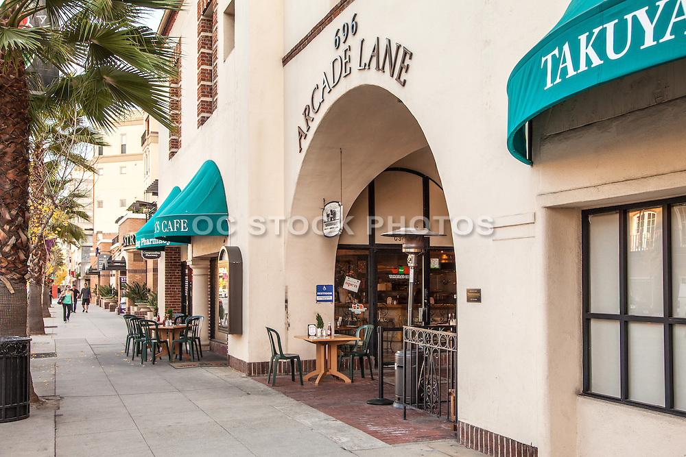 Arcade Lane Shopping and Dining on Colorado Boulevard in Pasadena California