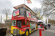 England Germany London Bus before the International Friendly match between Germany and England at Signal Iduna Park, Dortmund, Germany on 22 March 2017. Photo by Phil Duncan.