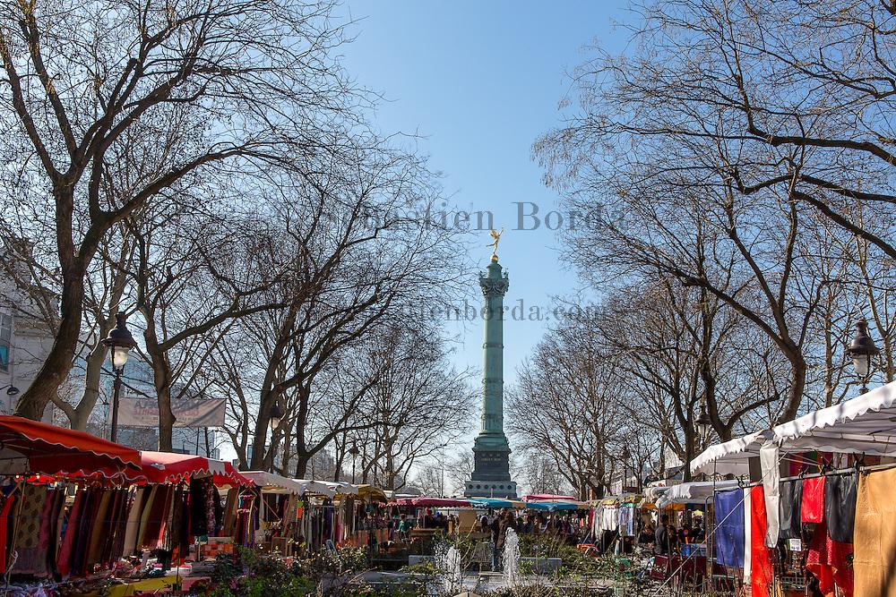 Marché de la place de la Bastille //  Place de la Bastille market