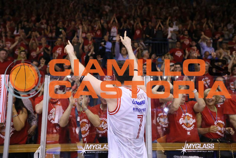 SemifinalePlayoff gara7-30Maggio2016ReggioEmilia<br /> BASKET SERIE A<br /> Grissin Bon Reggio Emilia-Sidigas Scandone Avellino<br /> NELLA FOTO Darius Lavrinovic<br /> FOTO CIAMILLO