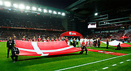 FOOTBALL: The teams lined up before the World Cup 2018 UEFA Qualifier Group E match between Denmark and Poland at Parken Stadium on September 1, 2017 in Copenhagen, Denmark. Photo by: Claus Birch / ClausBirch.dk.